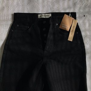 Reformation Melissa High and Skinny Black Jeans
